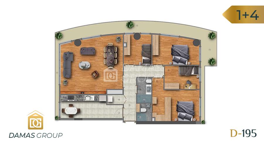 مجمع داماس 195 في اسطنبول  - صورة مخطط 04