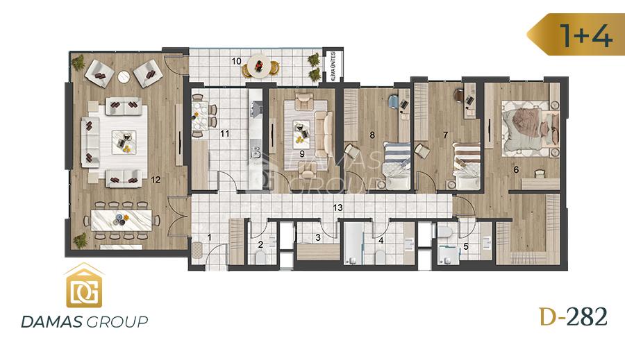 Damas Project D-282 in Istanbul - Floor Plan 05