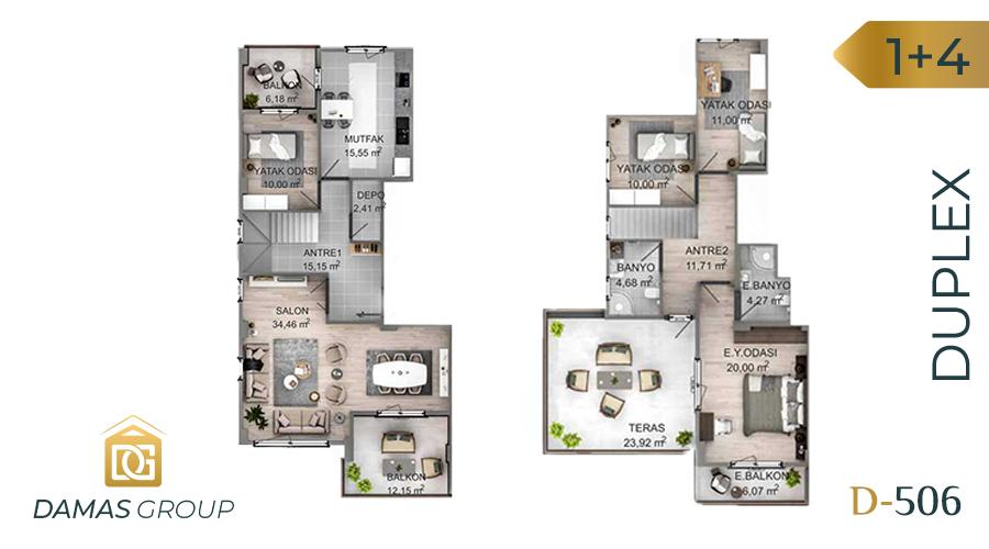مجمع داماس 506 في كوجالي  - صورة مخطط 03