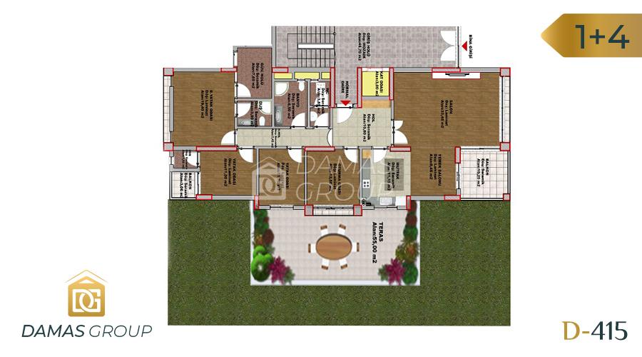 مجمع داماس 415 في طرابزون  - صورة مخطط 01