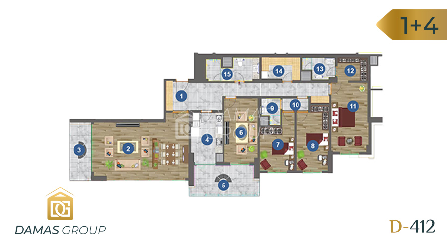 Damas Project D-412 in Trabzon - floor plan 02