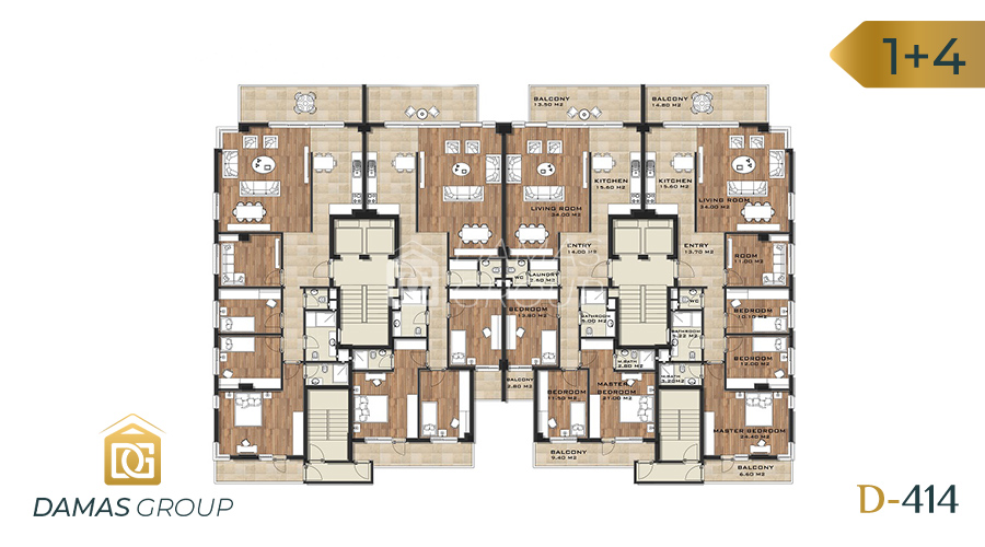 Damas Project D-414 in Trabzon - Floor Plan 01