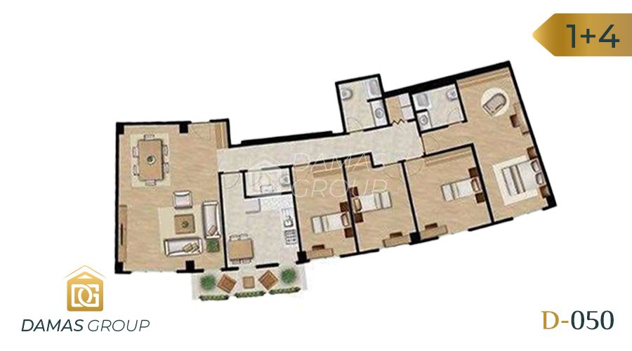 Damas Project D-050 in Istanbul - Floor Plan  03