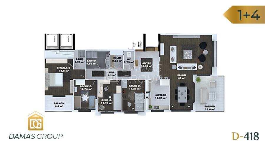 مجمع داماس 418 في طرابزون  - صورة مخطط 02