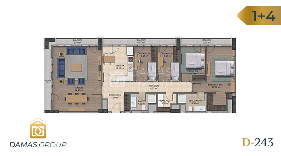 Damas Project D-243 in Istanbul - Floor Plan 07