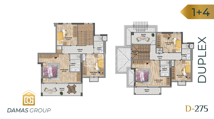Damas Project D-275 in Istanbul - Floor Plan 04