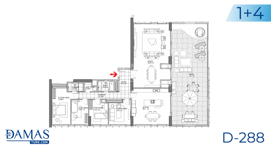 Damas Project D-288 in Istanbul - Floor plan picture 04