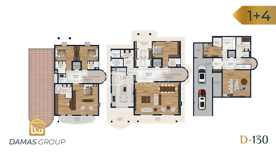 Damas Project D-130 in Istanbul - Floor Plan 01