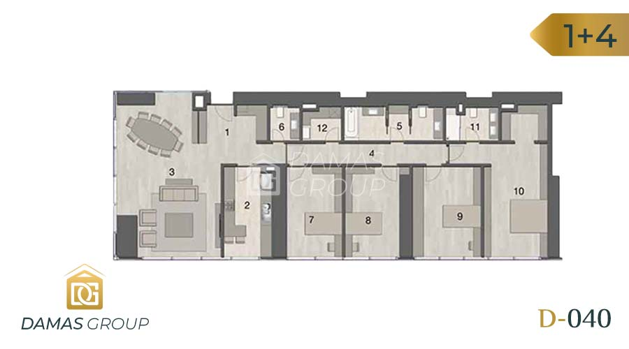 Damas Project D-040 in Istanbul - Floor Plan 04