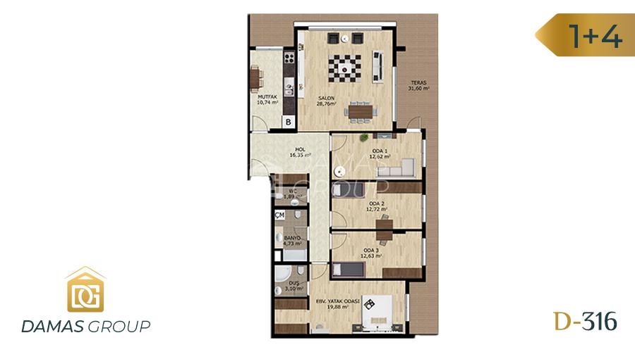 مجمع داماس 316 في بورصة  - صورة مخطط 03