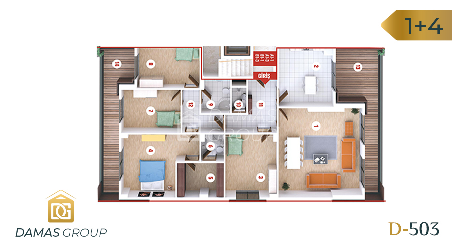 Damas Project D-503 in kocali - Floor Plan 03