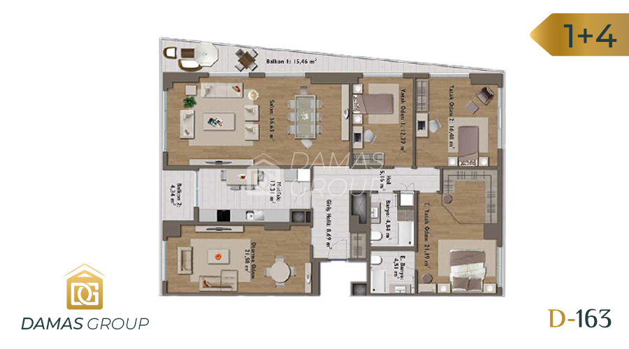 Damas Project D-163 in Istanbul - Floor Plan 06