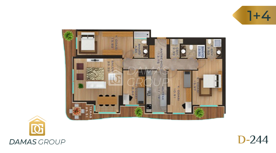 Damas Project D-244 in Istanbul - Floor Plan 05