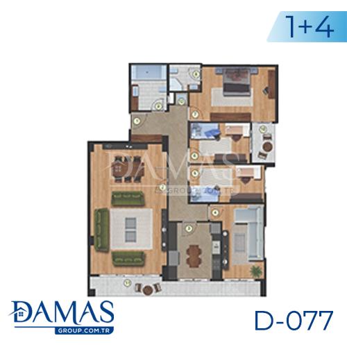 مجمع داماس 077 في اسطنبول  - صورة مخطط 04
