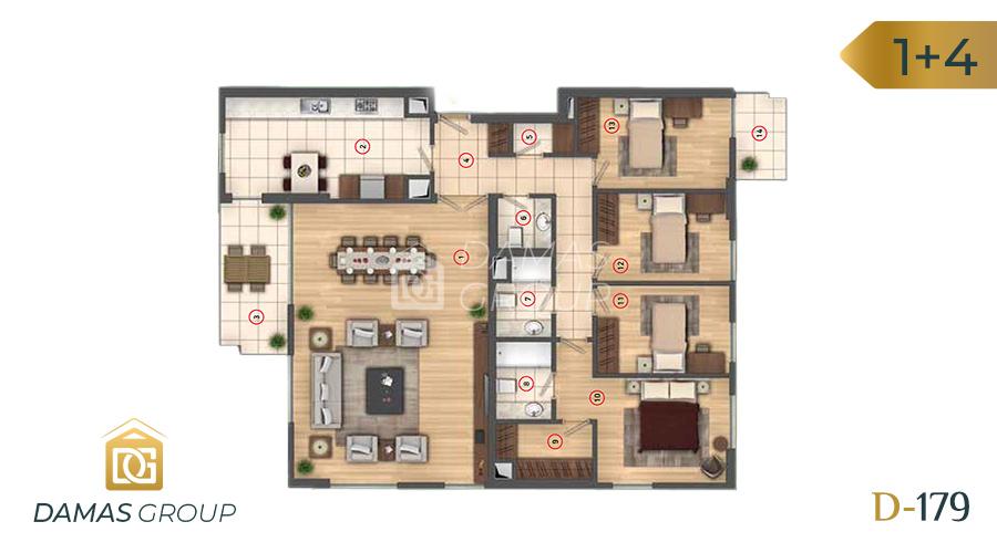 مجمع داماس 179 في اسطنبول  - صورة مخطط 06