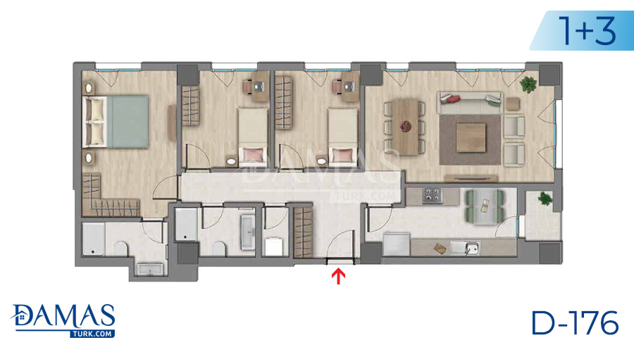 Damas Project D-176 in Istanbul - Floor plan picture  04