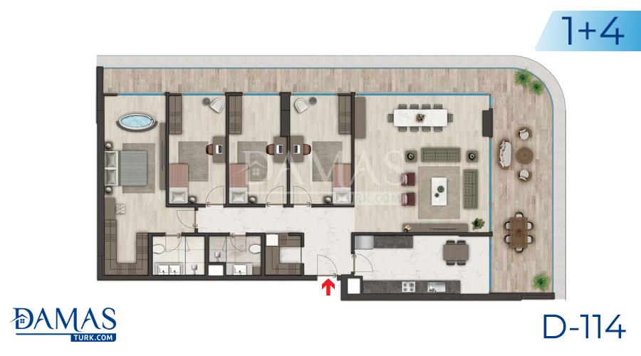 مجمع مجموعة داماس 114 في اسطنبول - صورة مخطط 04