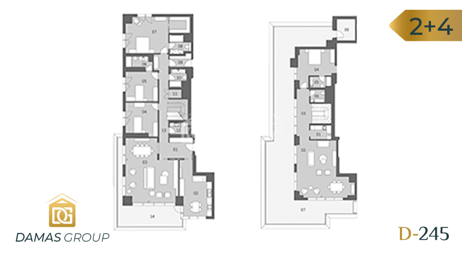 Damas Project D-245 in Istanbul - Floor Plan 04