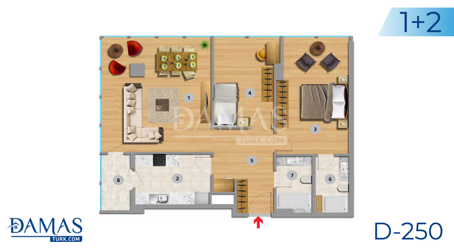 Damas Project D-250 in Istanbul - Floor plan picture 04