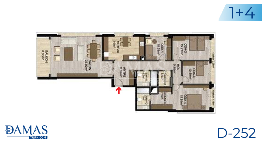 Damas Project D-252 in Istanbul - Floor plan picture 04