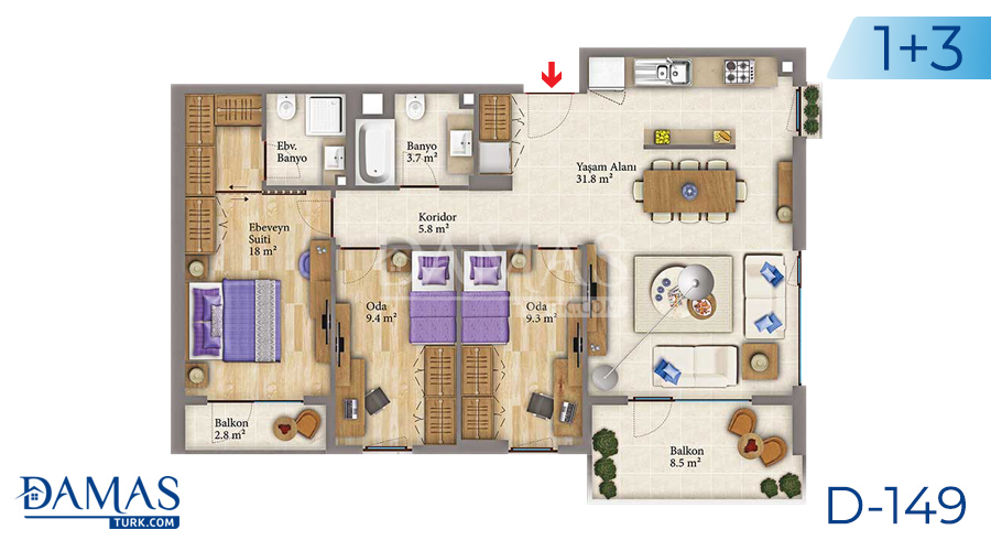 Damas Project D-149 in Istanbul - Floor plan picture 04