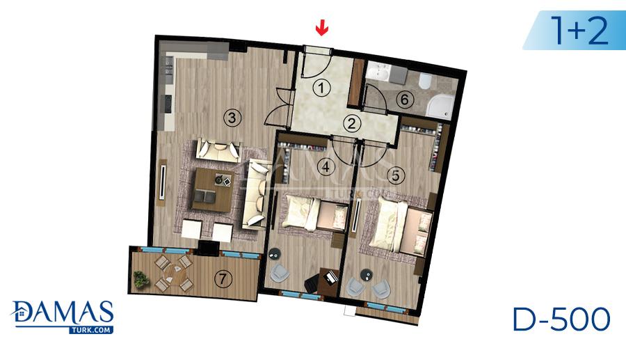 مجمع مجموعة داماس 500 في كوجالي - صورة مخطط 04