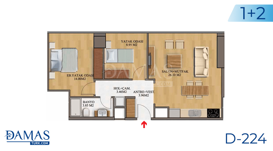 Damas Project D-224 in Istanbul - Floor plan picture  04