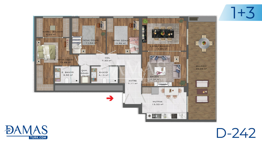 Damas Project D-242 in Istanbul - Floor plan picture  04