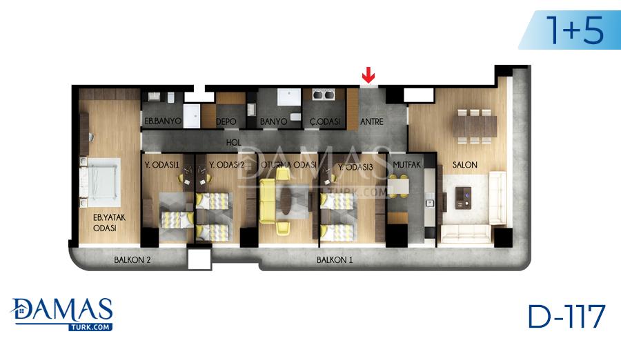 مجمع مجموعة داماس 117 في اسطنبول - صورة مخطط 04
