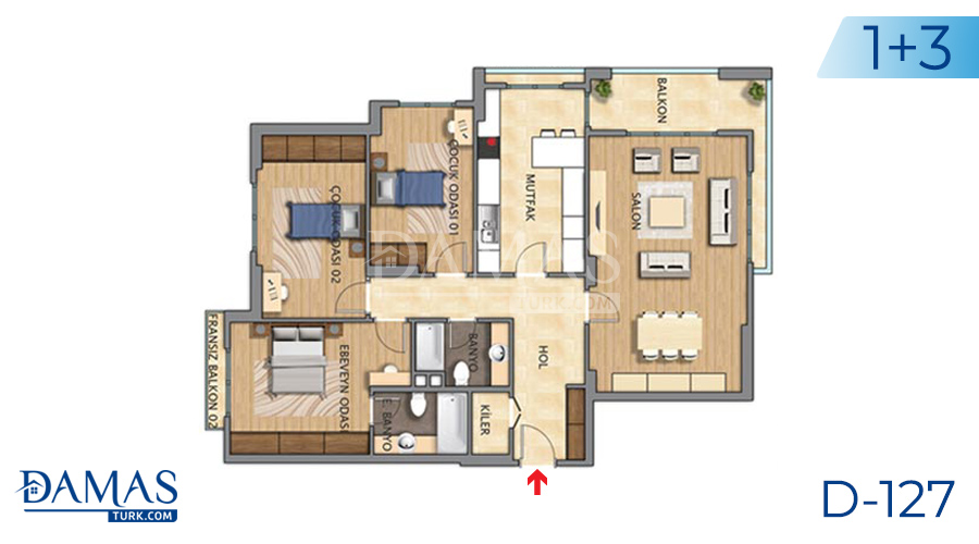 Damas Project D-127 in Istanbul - Floor plan picture 04