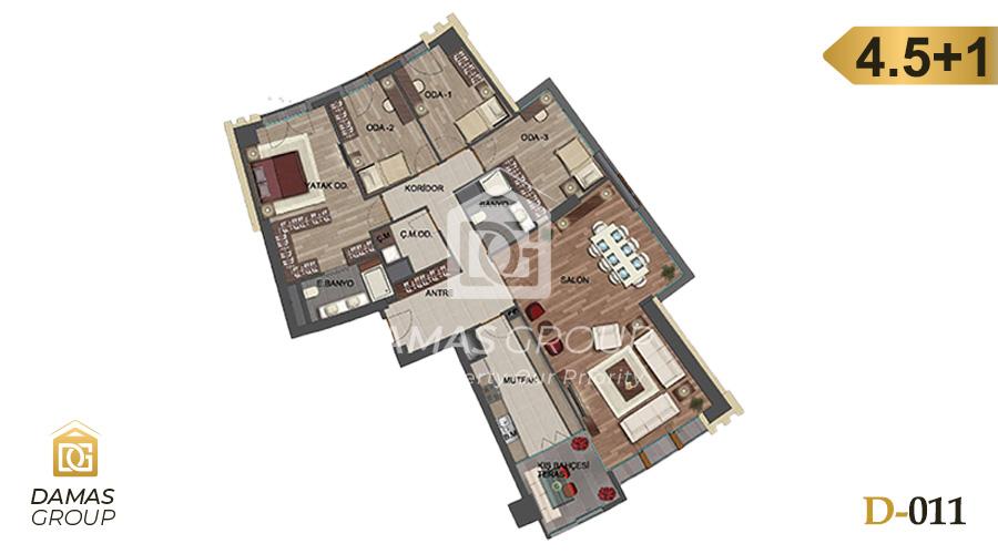 Damas Project D-011 in Istanbul - Floor Plan 05
