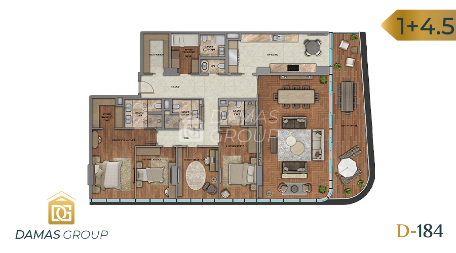 Damas Project D-184 in Istanbul - Floor Plan 04