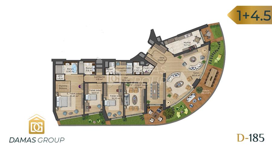 مجمع داماس 18 في اسطنبول  - صورة مخطط 05