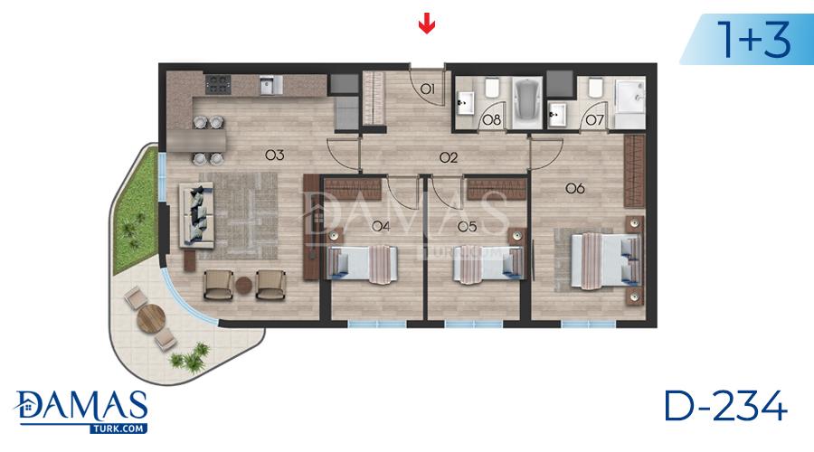 مجمع مجموعة داماس 234 في اسطنبول - صورة مخطط 04