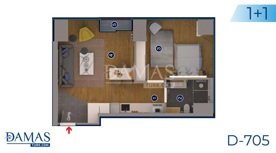 Damas Project D-705 in Ankara - Floor plan picture 04