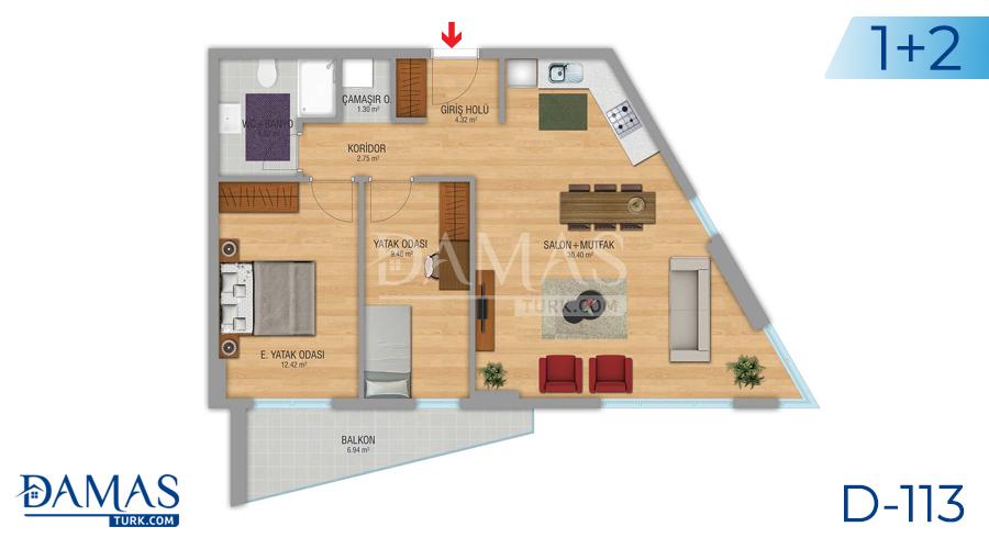مجمع مجموعة داماس 112 في اسطنبول - صورة مخطط 04