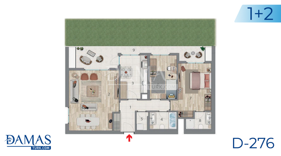 Damas Project D-276 in Istanbul - Floor plan picture 04