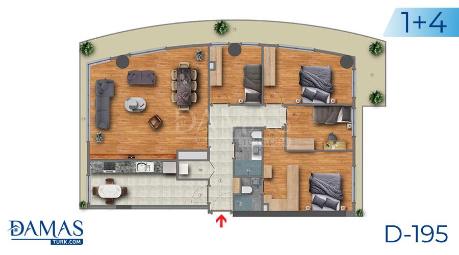 مجمع مجموعة داماس 195 في اسطنبول - صورة مخطط 04