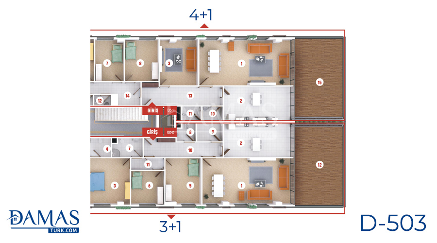 مجمع مجموعة داماس 503 في كوجلي - صورة مخطط 04