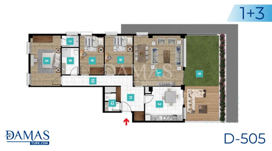مجمع مجموعة داماس 505 في كوجالي - صورة مخطط 04