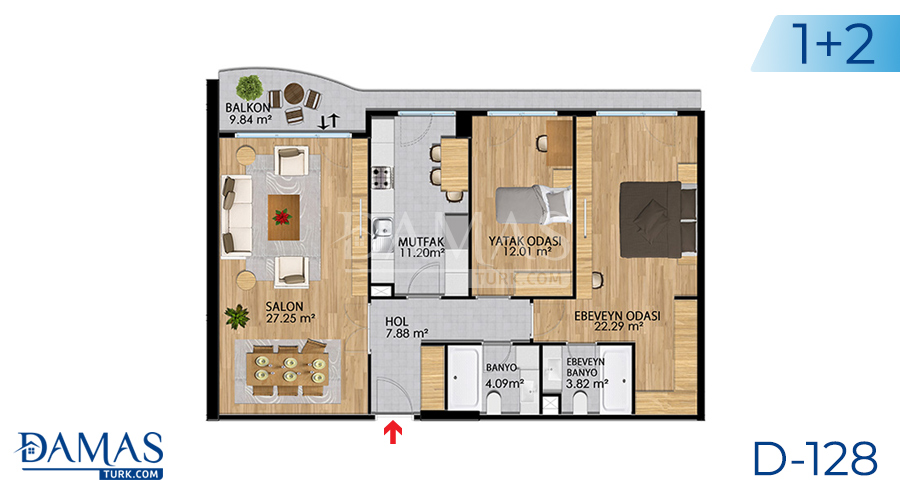 Damas Project D-128 in Istanbul - Floor plan picture 04