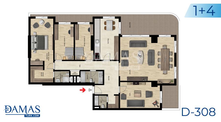 مجمع مجموعة داماس 308 في بورصة - صورة مخطط 04