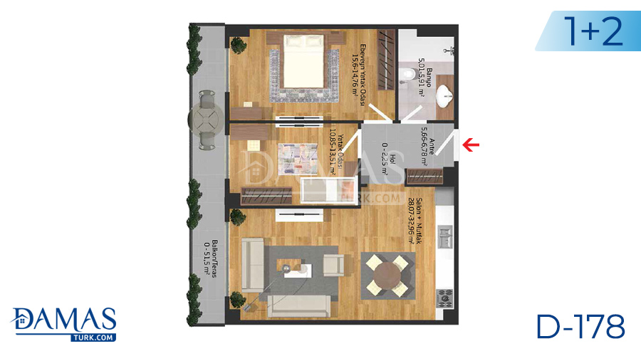 Damas Project D-178 in Istanbul - Floor plan picture  04