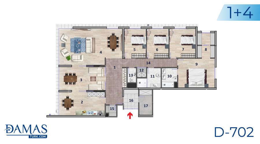 مجمع داماس 702 في أنقرة - صورة مخطط 04
