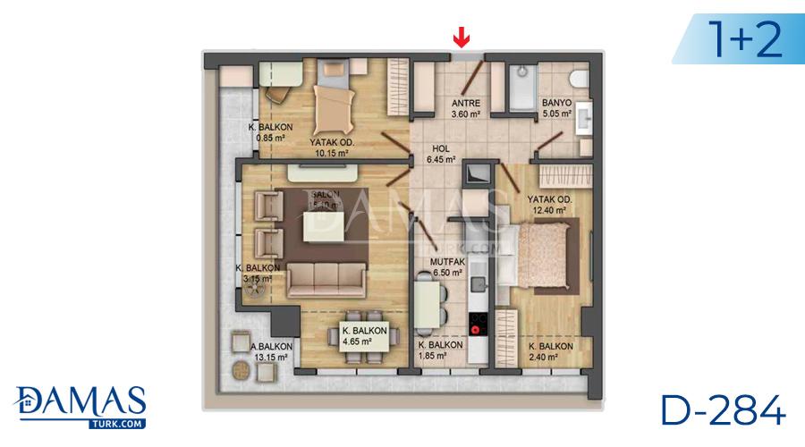 مجمع داماس 284 في اسطنبول - صورة مخطط 04