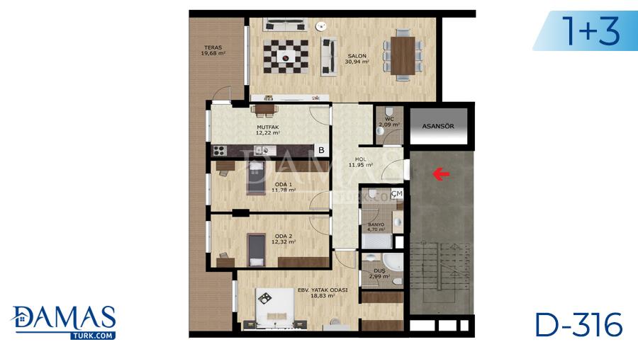 Damas Project D-316 in Bursa - Floor plan picture  04