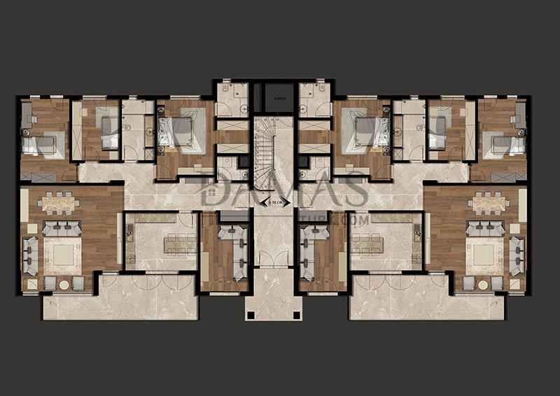 مجمع مجموعة داماس 205 في بورصة - صورة المخطط 04
