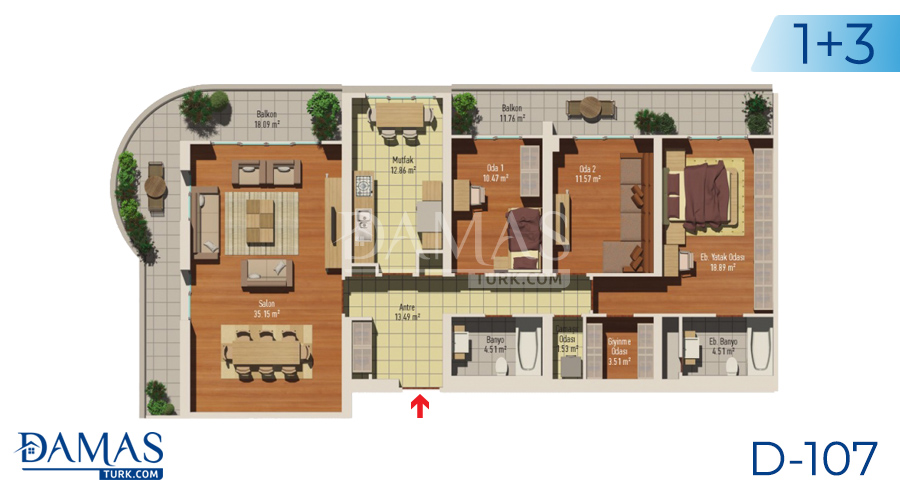 مجمع مجموعة داماس 107 في اسطنبول - صورة مخطط 04