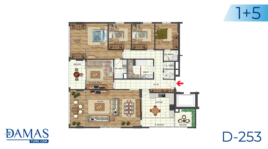 Damas Project D-253 in Istanbul - Floor plan picture 04