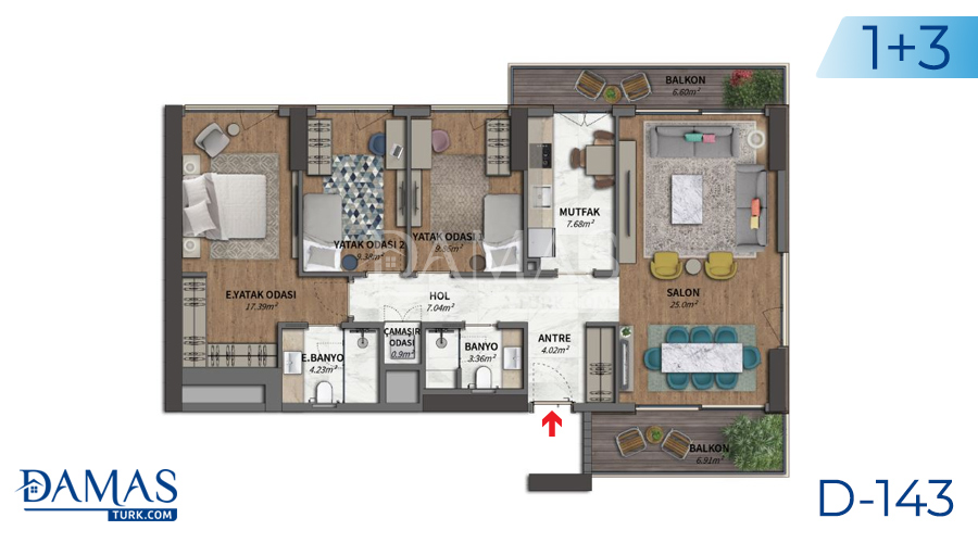 Damas Project D-143 in Istanbul - Floor plan picture 04